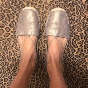Eileen Fisher Espadrilles. Metallic leather size 8